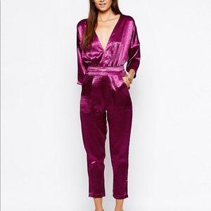 NWT Motel raspberry jumpsuit